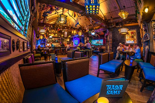 Inside of Trader Sam's with no people