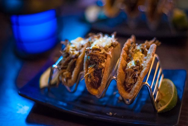 The tacos at Trader Sam's Grog Grotto
