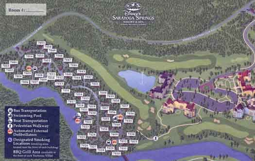 Saratoga Springs and Treehouse Villas map