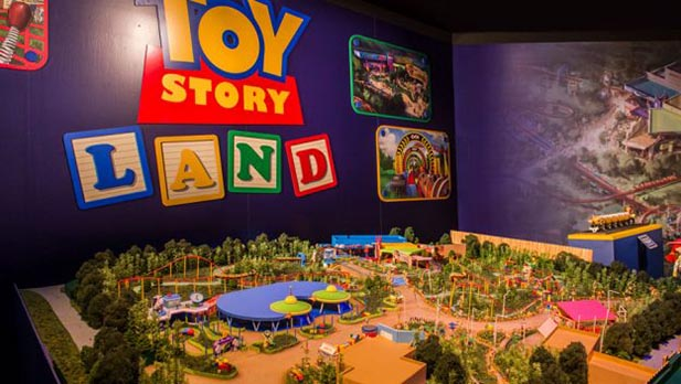 The Model of Toy Story Land in Walt Disney Presents