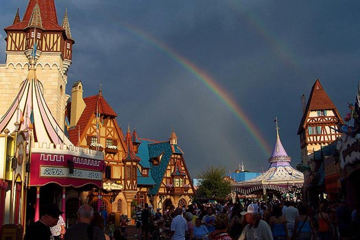 Walt Disney World weather can bring rainbows to the Magic Kingdom