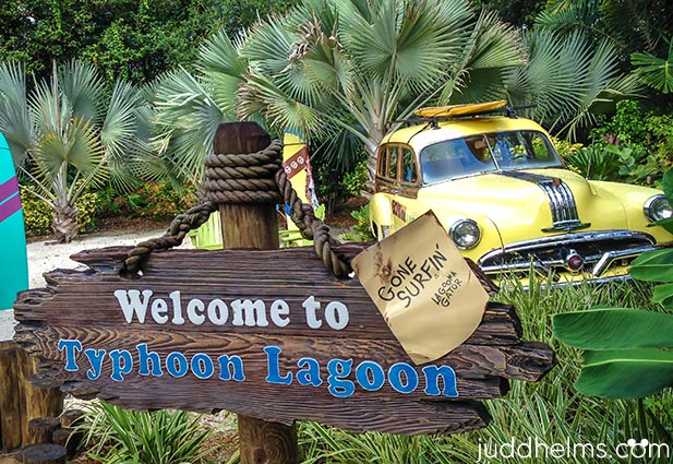 The entrance to Typhoon Lagoon