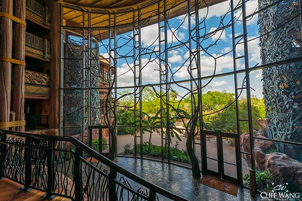 The door to the patio at Animal Kingdom Lodge