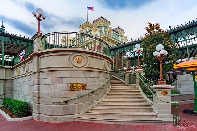 The stairs to the Main Street Train Station