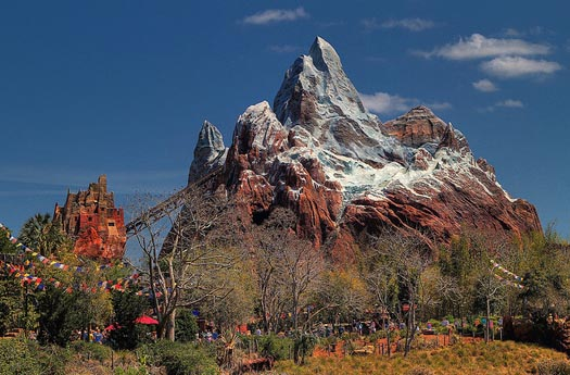 The Weather at Disney World at Expedition Everest is beautiful