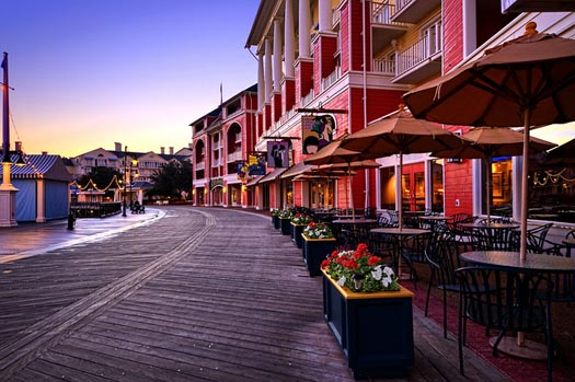 No Crowds on the Walt Disney World Boardwalk