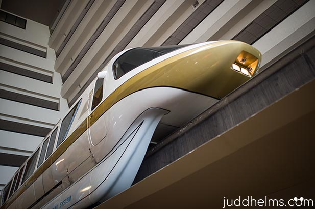 The monorail has been going through the Contemporary Resort since 1971