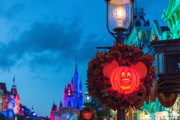 If you arrive in late October you can see the Halloween decorations in the Magic Kingdom