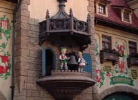 The Clock in the Germany Pavilion in EPCOT