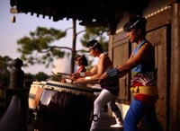 The drummers in the EPCOT Japan Pavilion