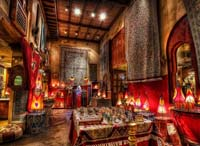 The Bazzar in the Morocco Pavilion at EPCOT