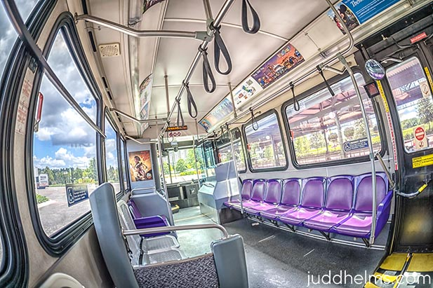 You will miss the inside of the Disney buses if you use Uber and Lyft