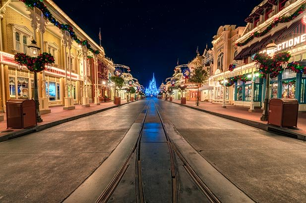 The Magic Kingdom empty