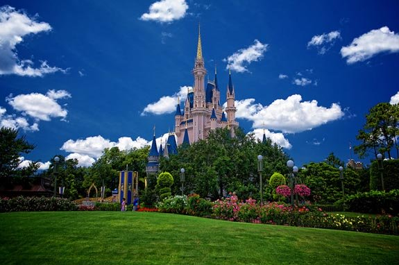 Cinderella Castle on the hill