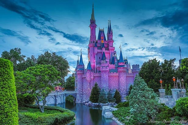 Cinderella Castle in Purple