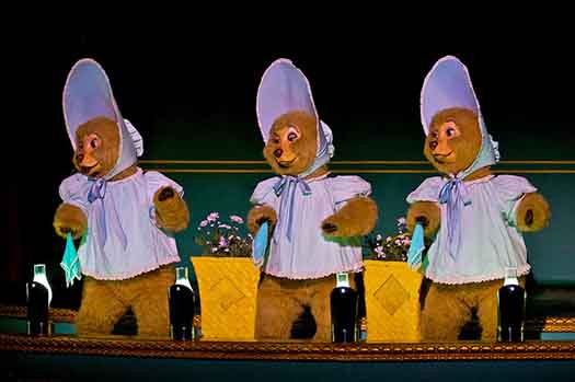 The Sun Bonnet Trio at the Country Bear Jamboree