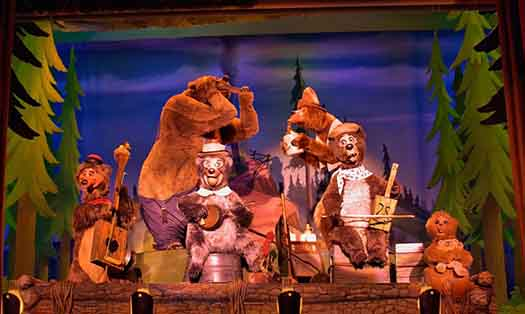 The Country Bear Jamboree in Frontierland