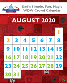 August Walt Disney World Crowd Calendar