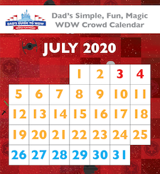 July 2020 Walt Disney World Crowd Calendar