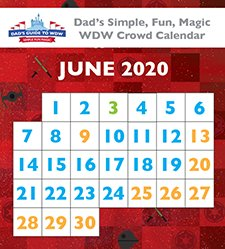 June 2020 Walt Disney World Crowd Calendar