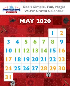 May 2017 Walt Disney World Crowd Calendar