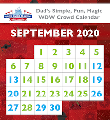 September 2020 Walt Disney World Crowd Calendar