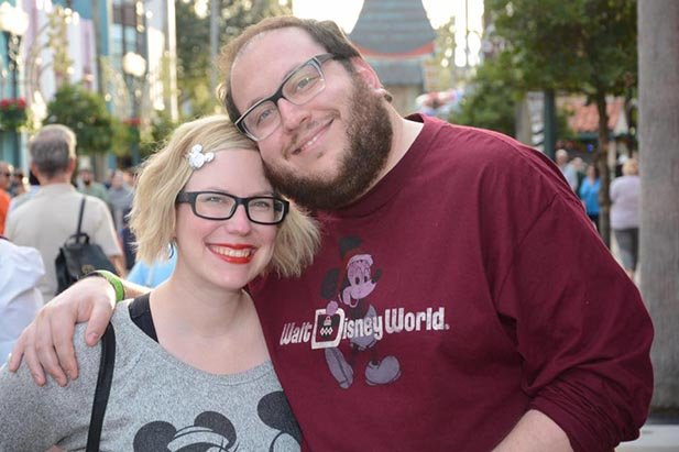 Danny and Stephanie Shuster celebrating low February Disney World crowds in Disney's Hollywood Studios