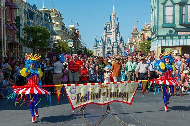 The end of the Festival of Fantasy Parade