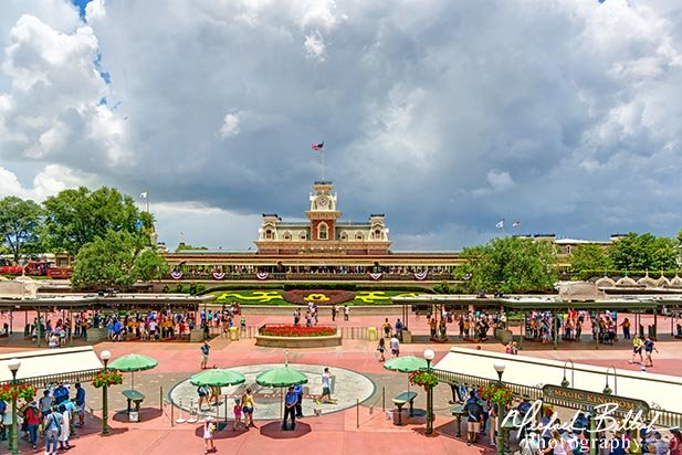 The Entrance to the Magic Kingdom.