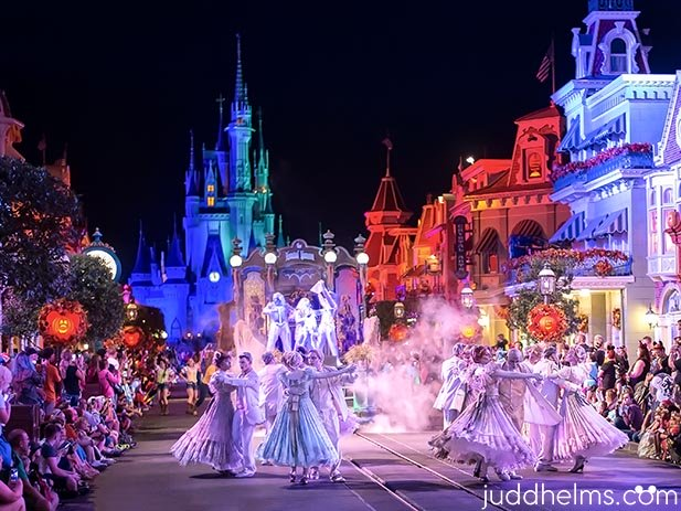 A ghostly waltz during Mickey's Not So Scary Halloween Party at the Magic Kingdom