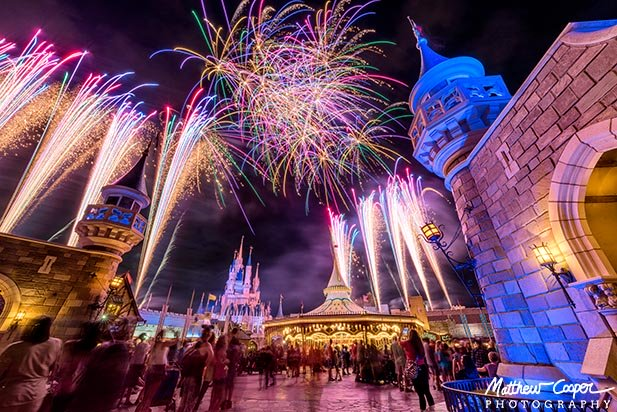 Even in Fantasyland the fireworks at the Magic Kingdom are amazing