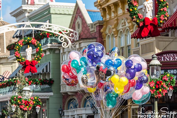 You'll need to plan a Disney vacatino is you want to see the Christmas decorations in the Magic Kingdom