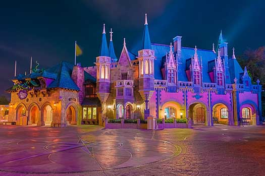 Sir Mickey's is the exit to Princess Fairytale Hall