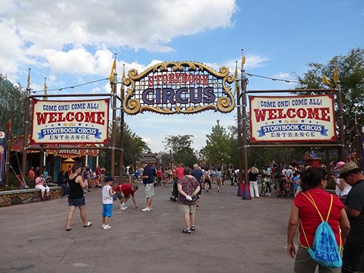 the entrance to Storybook Circus