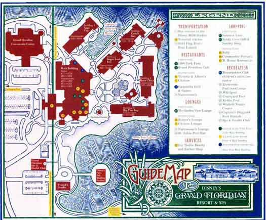 Disney Grand Floridian Hotel map