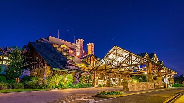Outside the Wilderness Lodge