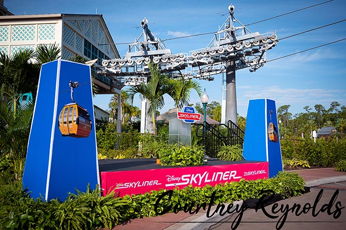 The Disney Skyliner is a great way to get around from the Caribbean Beach Resort