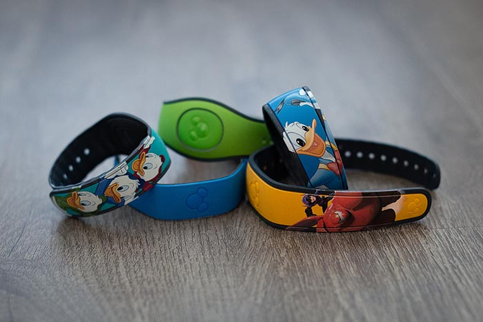 MagicBands ready to be used with MyDIsneyExperience