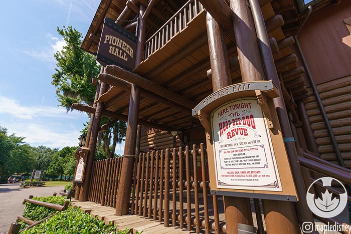 Pioneer Hall, home of the Hoop Dee Doo Revue is a 2 credit restaurant that would be affected by a Quick Service Credits change