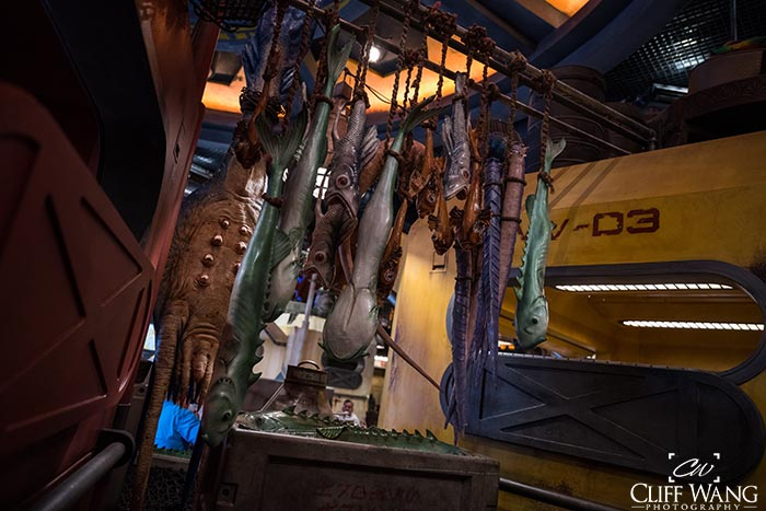Batuuian Fish hanging from the ceiling in Docking Bay 7 Food and Cargo