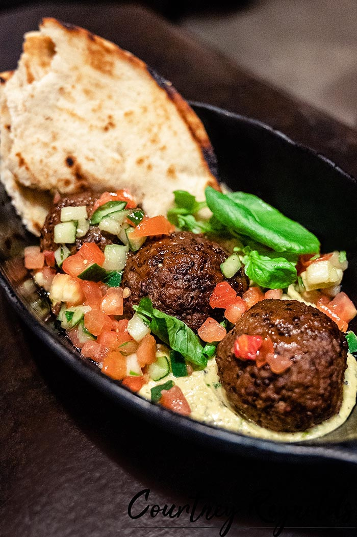 The Felucian Kefta and Hummus Garden Spread (plant-based) are available at lunch and dinner at Docking Bay 7