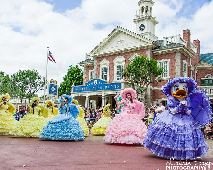 The Azalea Trail Maids are very colorful in the Easter Day Parade at the Magic Kingdom and will be back Easter Week 2020