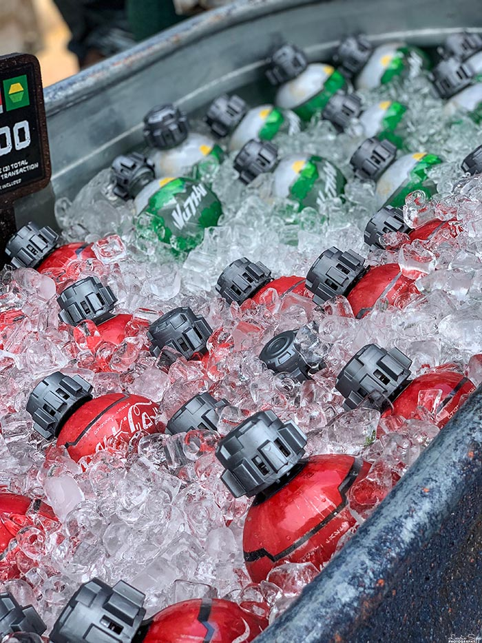 Cokes, and Sprites in ice at the Coke Stand in Galaxy's Edge