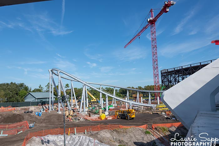 The Tron Roller Coaster construction in the Magic Kingdom, something to be planning for an October 2021 trip to Walt Disney World