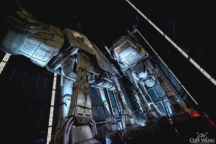 You run into AT - AT's during Rise of the Resistance