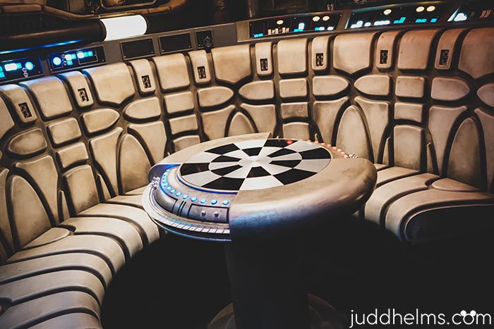 The Dejarik table (Chewbacca's chess game) in Millennium Falcon: Smugglers Run