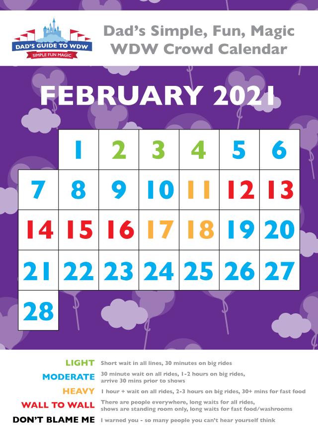 Wdw Crowd Calendar 2021 February Disney World Crowds   Calendars tips and more