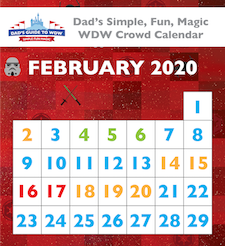 Dad's February 2020 Disney World Crowd Calendar was not all that good either