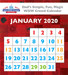 Dad's January 2020 Disney World crowd calendars were kind of wrong