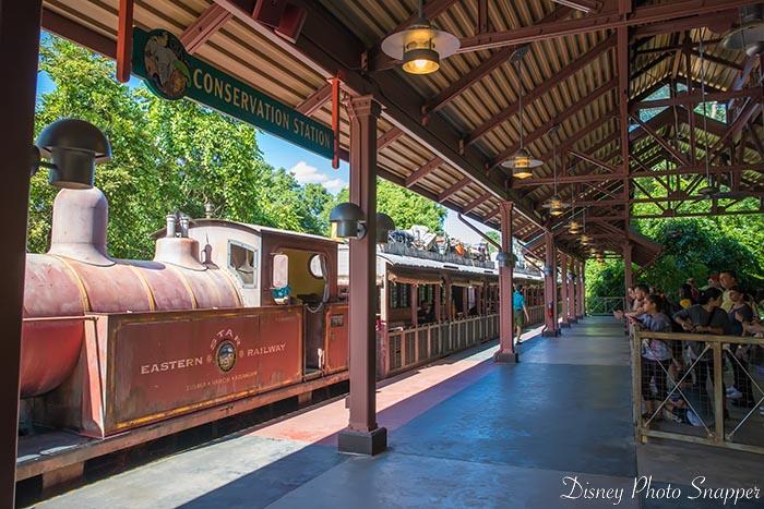 Rafiki's Planet Watch starts with a train ride